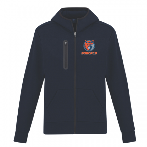 navy nba style hoodie front