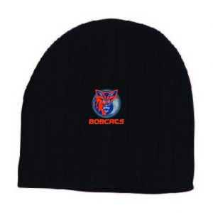 Bobcats Black Cable Knit Beanie
