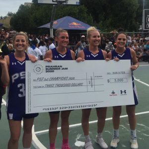 bobcats 3x3 womens team with cheque